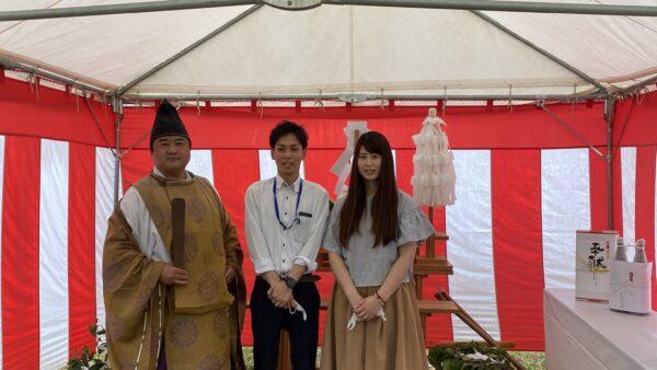 近江八幡で地鎮祭(^.^)